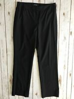 Lafayette 148 New York Women's Black Straight Leg Career Pants - Size 6