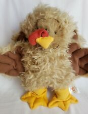"""Vintage Tender Heart Treasures 9"""" Bear with Turkey Costume Outfit"""