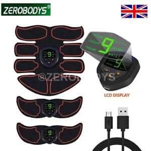 EMS Abdominal Muscle Toning Trainer ABS Stimulator Toner Fitness