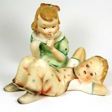 VTG Occupied Japan Figurines Pair of Boy and Girl Hummel Style Ceramic Set of 2