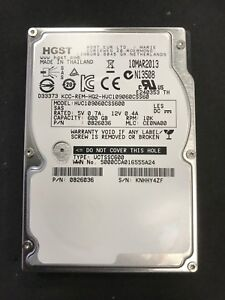 "20 X HGST HUC109060CSS600, 600GB 10K SAS 2.5"" HDD A1"