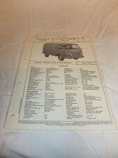 Reklame Datenblatt VDA-Typenblatt Oldtimer LKW Ford TYP Taunus-Transit 800 1964