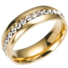 S/STEELE _SIZE:10_.GOLD_BAND_CZ'S -- (GREAT_CHRISTMAS_GIFT)