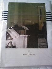 YVES DELORME TAYLOR BLANC SATIN FLAT SHEET