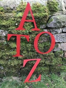 """Vintage Industrial Red Metal  Large 12"""" Alphabet Letters - A to Z"""