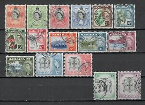 s22582a) JAMAICA 1956 VF Used - Definitives 16v up to  £1.00