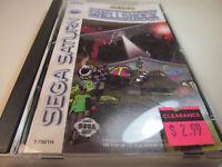 ShellShock Complete CIB Sega Saturn Game Nice Shape Shell Shock w/ Reg Card READ