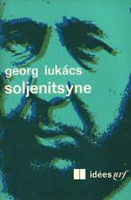 SOLJENITSYNE PAR GEORG LUKACS AUX ÉDITIONS GALLIMARD COLLECTION IDÉES 1970