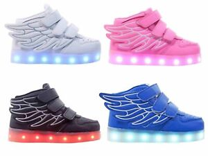 Rechargeable 7-Color LED Light Up Boys Girls Unisex Kids Sneakers Baby Shoes