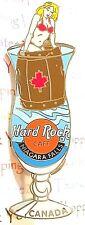 Hard Rock Cafe Niagara Falls Hurricane Glass Barrel Girl Pin HRC LE NEW # 19851