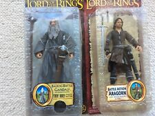 Lord Of The Rings Action Figure  Bundle,Gandalf  ,Aragorn ,Toy-biz 2004 ,,New.