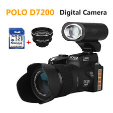 POLO D7200 1080P 24XZoom Digital DSLR Video Camera+3 Wide Angel Lens+32GB Card
