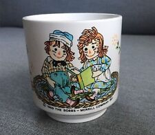Vintage Raggedy Ann And Andy Plastic Child's Cup/Mug, 1969, Oneida ware