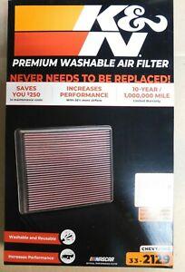 K&N PREMIUM WASHABLE AIR FILTER-CHEVY-GMC-33-2129