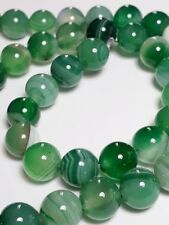 6pcs Green Agate Natural Gemstone Beads (Grade B) 8mm B18927