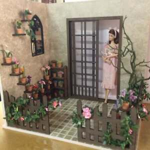Doll house Room Box  Flagged Yard C ~ Scale 1:6 Pullip Blythe Momoko Barbie
