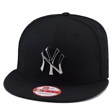 New Era New York Yankees Snapback Hat BLACK/SILVER Metal Badge jordan 5 retro OG