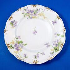 CA Limoges Depose Purple Violets Dinner Plate