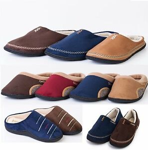 Mens New Comfort Coolers Soft Memory Insole Foam Mules Lightweight Slippers Shoe