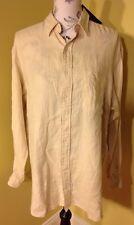 Polo Ralph Lauren 100% Linen Men's Button Down Size Medium
