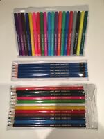20 Personalised Felt Tip Pens, 12 Colour Pencils & 6 Blue HB 'Any Name Printed'