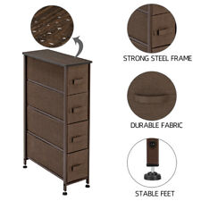 "30"" Narrow Drawer Dresser Storage Organizer 4-Drawer Closet Shelves Brown New"