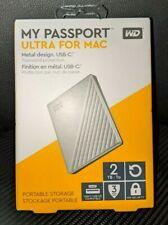 WD My Passport Ultra Mac 2TB External USB C & 3.0 Portable Hard Drive FAST SHIP
