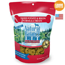Natural Balance L.I.T. Sweet Potato & Bison Regular Size Dog Treats, 8-Ounce Bag