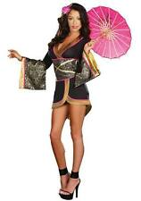 WOMENS LADIES SEXY JAPANESE GEISHA GIRL COSTUME FANCY DRESS HEN PARTY ORIENTAL