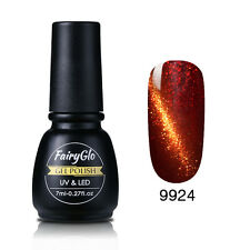 FairyGlo Cat Eye UV Soak Off Gel Nail Polish Nail Art Magnet Amazing Colors 7ML
