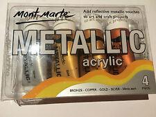 Mont Marte Metallic Acrylic 50ml 4pce