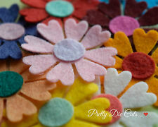 Daisy Flowers made from Multi Coloured felt (10) Die Cut Daisies Embellishments