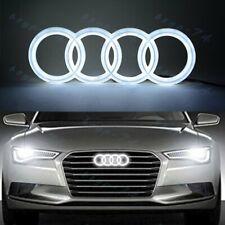 Chrome For Audi Grille Front Hood A1 A3 A4 A5 A6 A7 Q3 Q5 Q7 LED Emblem White
