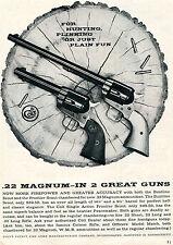 1959 Print Ad of Colt .22 Magnum Bluntline & Frontier Scout Pistol