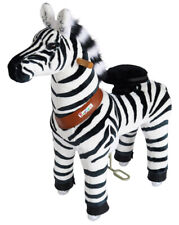 PonyCycle Kids Manual Ride on Zebra Small 3-5 Year New