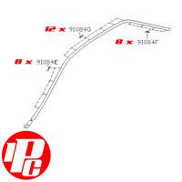 Genuine Roof Trim Clip Set Fits: Subaru Impreza Saloon & 2 Door 92-00 WRX STi