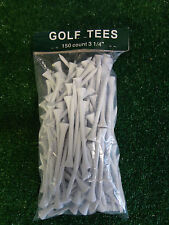 150 White Golf Tees, 3 1/4 Inches