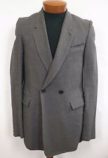 NWT Authentic DAMIR DOMA Gray LINEN Blend Jacket Blazer IT-46 US-36