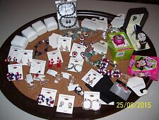 BIG LOT OF NEW ASSORTED JEWELRY, EARRINGS, NECKLACES, BRACELETS, OVER $1300.00