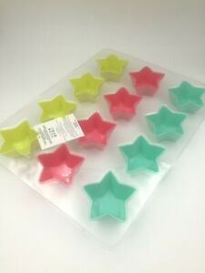 12 Star Shape Silicone Baking Cases Moulds Case Cooking Mold Cupcakes Cake