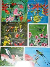 GUINEA 2001 3520-41 Block 707-09 karibische Kolibris Hummingbirds Vögel MNH