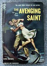 LESLIE CHARTERIS The Avenging Saint SIMON TEMPLAR Avon 518 Vintage Paperback