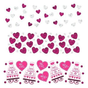 I Do & Ring Value Confetti- Bright Pink Wedding Decoration