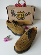 Dr Martens suede creepers platform double sole brown green UK 6 EU 39 US 8