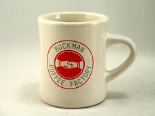 Buckman Coffee Factory White Ceramic Mug Portlandia Portland Oregon