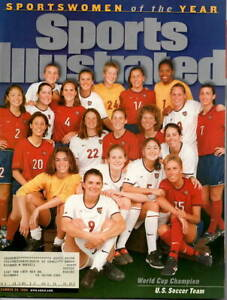 1999--SPORTS ILLUSTRATED--US WORLD CHAMPION WOMEN'S SOCCER TEAM ON COVER--XLNT
