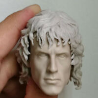 """Blank 1/6 Scale Action Star Rambo Head Sculpt Unpainted Fit 12"""" Figure"""