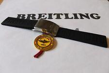 100% Genuine NEW Breitling Noir Diver Pro 3 en caoutchouc sangle & polie fermoir 22-20