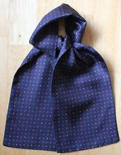 "Blue millefiori silk cravat 39"" X 4.5"" Hand made"
