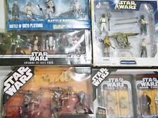 Star Wars Batalla paquetes y conmemorativa caja metálica (4x Figura) Packs -